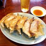 東峰飯店 - 餃子(6個¥500)。今回の旅で3回目に食べる餃子、実はこれが一番気に入った