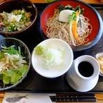 ゆう - ランチ Bセット(蕎麦・季節の漬け丼)