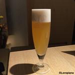 鳥恵 - 生ビール。