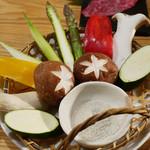 51361978 - 季節の焼き野菜5種盛り合わせ