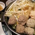 51365094 - 三色つみれ鍋(煮る前)