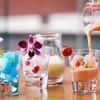 バー フィズ - ドリンク写真:アイスキューブにフローズンをかけて楽しむノンアルコールカクテル