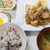 仙台市役所 食堂 - 料理写真:ヘルシーセット(厚揚げとキャベツの炒め・健康米)583kcal:500円/2016年5月