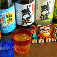 オリオンビール、泡盛など沖縄のお酒充実♪