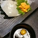おたる政寿司 - 雲丹とイカの最強コラボ(*^^*)