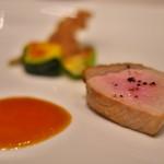 アルカナイズ - 夕食、金華豚のロースト。