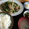 すすき食堂 - 料理写真:ニラレバ定食