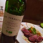 ビストロ・サンミ - 料理写真:先ずは、おススメの赤ワインと美味しい一品から・・・