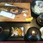 屋久島観光センター・屋久島ギャラリーレスト - 塩鯖焼き定食(税込み1080円)