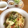 キアッソ - 料理写真:今日はご馳走になりました〜(*^_^*)野菜とアンチョビのパスタ!