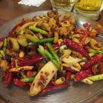 陳家私菜 - 鶏唐揚げのスパイシー炒め(2016年5月)