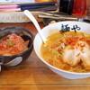 拉麺専門店 麺や - 料理写真:2016年5月 エビ塩ラーメン大盛り、桜エビ丼