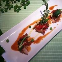 ■肉と野菜の料理【鳥取県産大山鶏と野菜のブレゼ黒酢風味 又は アンガス牛(+480円)】
