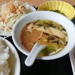 台湾料理 しん龍 - 料理写真:味噌ナスランチのスープ