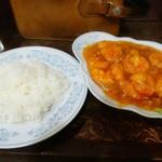 新華苑 - 料理写真:エビチリ定食1050円