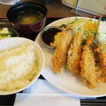 オリーブ・キッチン  - アジフライ定食ジンジャーソース