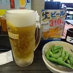 焼鳥 日高 - 「生ビール」とライバルの「枝豆」