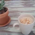 サンカフェ - ドリンク写真:泡の部分がすごくクリーミーでした。