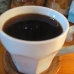 51561149 - HOTコーヒー                       ピンボケですみません?                       or 湯気で曇ったかなと苦いいいわけ?