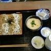 寿屋本家 - 料理写真:土曜メニュー 「山かけ、オクラ蕎麦」大盛りにて