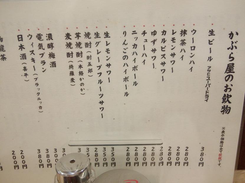 かぶら屋 昭島店