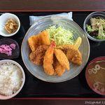 なぶら - 地魚フライ定食(1,200円)16.5月