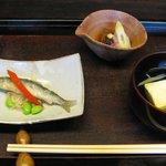 きょうや - お昼の今カセコース.....旬の彩り小鉢 3品(週変わり)