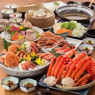 北の味紀行と地酒 北海道 - タラバ蟹・紅ズワイ蟹食べ放題コース