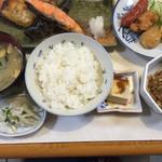たまや食堂 - おまかせ焼魚セット@980円