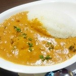 グリーンインドレストラン - ランチタイムのカレーライス(チキン・マッシュルーム)550円