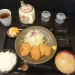 とんかつ瓢 - 料理写真:上ヒレにはソースかヒマラヤ岩塩ブラックが合う