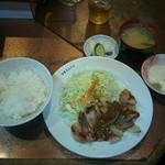 洋食 キムラヤ - ポークソテー定食(750円)