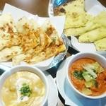 グリーンインドレストラン - キーマ・ナン、ガーリック・ナン、マトン・コルマ、チキン・ドピアイザ