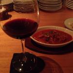 ひげたか - トリッパのピリ辛トマト煮込み