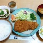 とんかつ うちの - 宮城県産 島豚ロースかつ定食 2,500円(税込)