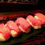 コトノハ・mog-mog食堂 - もとぶ牛の炙り寿司