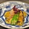 二条城ふる田 - 料理写真:炙ったイサキにゴマ酢かけ。