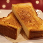 ベーカリー&カフェ Vent Dor Cafe - トーストset 390円。