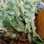 加賀 - 野菜コロッケ蕎麦+春菊天 2016.5