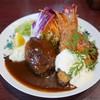 浅井食堂 - 料理写真:ハンバーグとエビフライ 1400円