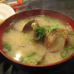 天ぷら 大吉 - あさりのみそ汁