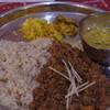 サッチェズカリー - 料理写真:料理(2種盛り)キーマと豆