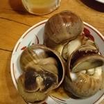 びっくりうどん - ○丸つぶ貝の醤油煮 360円