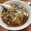 丸福 - 料理写真:ワソタソ麺(850) 硬めにサッと湯通ししたモヤシ、味付けした挽肉少々がのり、チャーシューは脂身の少ない硬めのもので醤油ダレが良く染みている。