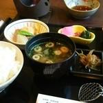 花水庵 - 朝食は湯豆腐が出ます。