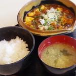 あさくさ食堂 - 香りの麻婆豆腐定食