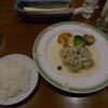 ビストロ シェ リキ - 料理写真:ロールキャベツきのこクリームソース+Aセットでライス選択