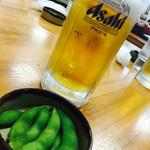 51885210 - 生ビールとお通しの枝豆