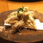 高太郎 - 稚鮎の天ぷら 蕗の薹の天ぷら こごみの天ぷら
