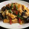華泉 - 料理写真:A:日替わりセット 牛肉と玉子のピリ辛炒め